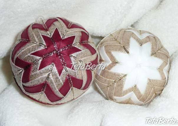 Vianočné gule - nešitý patchwork, foto 1 Hobby, voľný čas, Ostatné | Tetaberta.sk - bazár, inzercia zadarmo