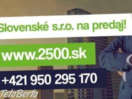 Predaj s.r.o. platca DPH. Podnikajte do 24 hodín ! , Obchod a služby, Ostatné  | Tetaberta.sk - bazár, inzercia zadarmo