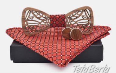 Drevený motýlik s manžetovými gombíkami - NOVÉ, foto 1 Móda, krása a zdravie, Doplnky a príslušenstvo | Tetaberta.sk - bazár, inzercia zadarmo