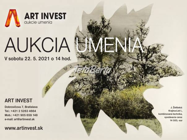 Jarná aukcia umenia v sobotu 22.5. od 14 hod., foto 1 Hobby, voľný čas, Umenie a zbierky   Tetaberta.sk - bazár, inzercia zadarmo