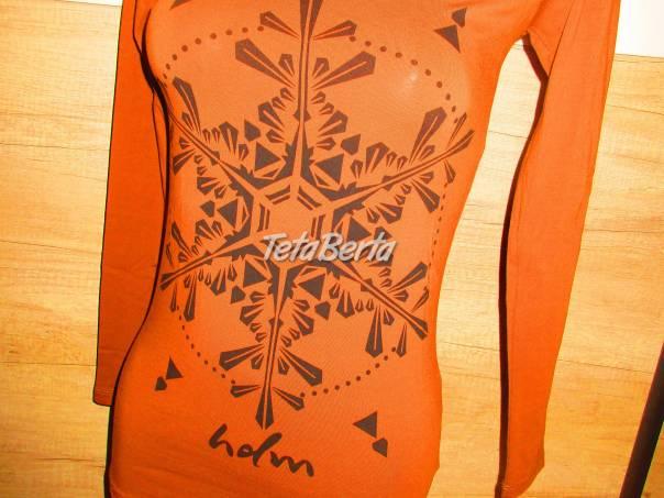 69740d952d Nádherné tričko na dlhý rukáv s vločkou