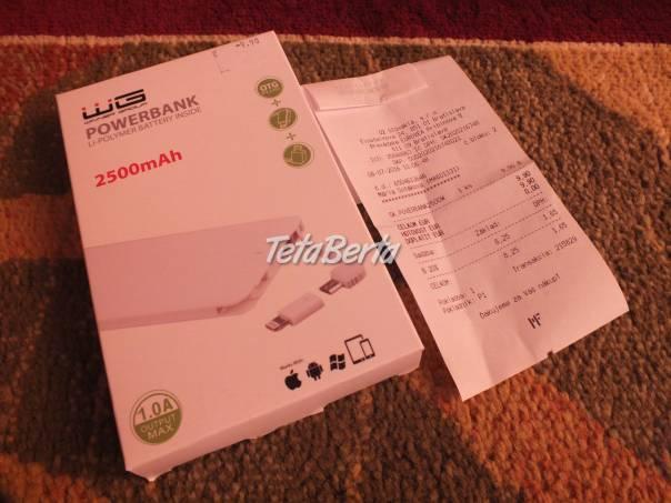 Predám PowerBank 2500mAh_06. Nepoužívaná, je nová., foto 1 Elektro, Mobilné telefóny | Tetaberta.sk - bazár, inzercia zadarmo