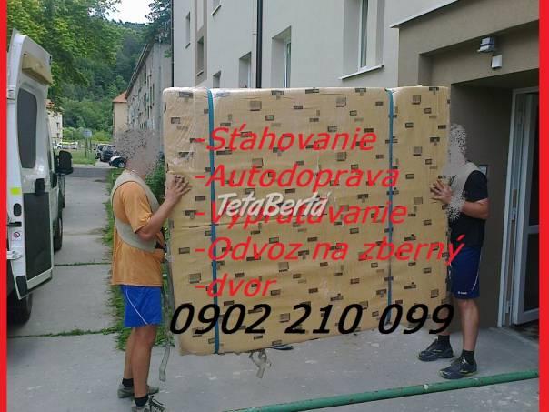 Sťahovanie Žarnovica Vypratávanie, Odvoz na zberný dvor, foto 1 Obchod a služby, Preprava tovaru | Tetaberta.sk - bazár, inzercia zadarmo