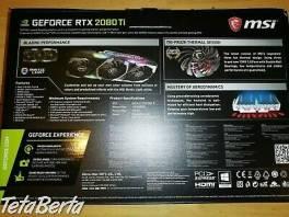 Predaj Msi Rtx 2080ti X trio / 2080 , Elektro, Zvukové a grafické karty  | Tetaberta.sk - bazár, inzercia zadarmo