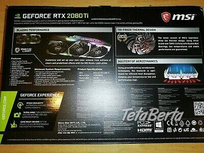 Predaj Msi Rtx 2080ti X trio / 2080, foto 1 Elektro, Zvukové a grafické karty | Tetaberta.sk - bazár, inzercia zadarmo