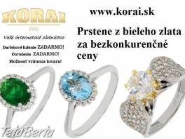 Prstene z bieleho zlata KORAI , Móda, krása a zdravie, Hodinky a šperky  | Tetaberta.sk - bazár, inzercia zadarmo