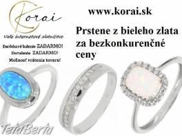 Prstene z bieleho zlata od KORAI , Móda, krása a zdravie, Hodinky a šperky  | Tetaberta.sk - bazár, inzercia zadarmo