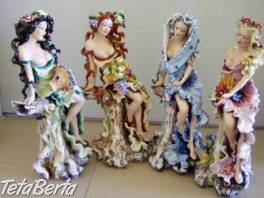 JARO,LĚTO,PODZIM,ZIMA - čtyři porcelánové sošky vysoké 405mm , Hobby, voľný čas, Umenie a zbierky    Tetaberta.sk - bazár, inzercia zadarmo