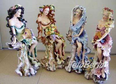 JARO,LĚTO,PODZIM,ZIMA - čtyři porcelánové sošky vysoké 405mm, foto 1 Hobby, voľný čas, Umenie a zbierky   Tetaberta.sk - bazár, inzercia zadarmo