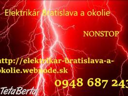 Elektrikár Bratislava -NONSTOP , Obchod a služby, Stroje a zariadenia  | Tetaberta.sk - bazár, inzercia zadarmo