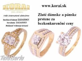 Prstene zlaté KORAI , Móda, krása a zdravie, Hodinky a šperky  | Tetaberta.sk - bazár, inzercia zadarmo