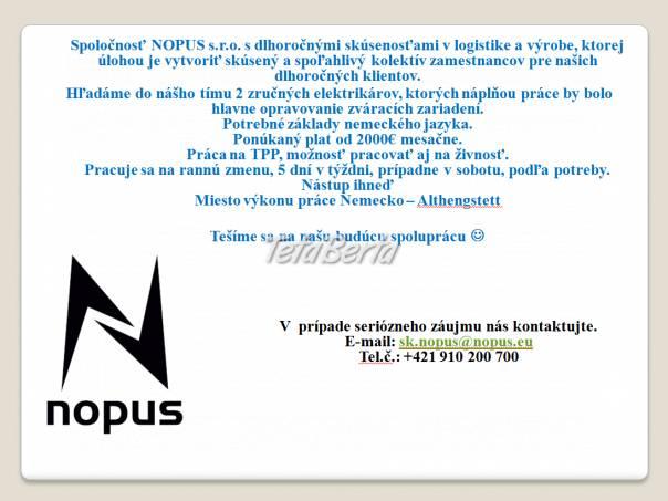 Elektrikár, foto 1 Práca, Práca v zahraničí | Tetaberta.sk - bazár, inzercia zadarmo
