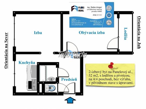 2-izbový byt, Panelová ul., 52 m2, na 4/4 pos., s lodžiou za 68.500 € - PREDANÉ, foto 1 Reality, Byty | Tetaberta.sk - bazár, inzercia zadarmo