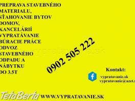 Stahovanie a preprava  Bratislava , Dom a záhrada, Sťahovanie  | Tetaberta.sk - bazár, inzercia zadarmo