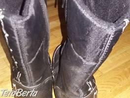 ZáNOVNé čierne zateplené čižmy v.33,vnútro 21 , Pre deti, Detská obuv  | Tetaberta.sk - bazár, inzercia zadarmo