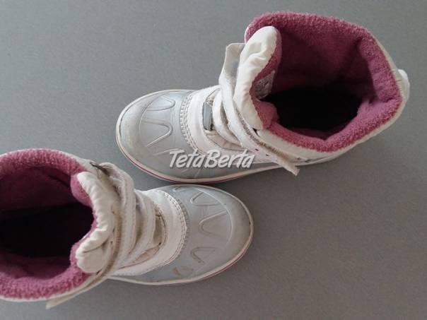 Biele zateplené čižmy na zimu v. 29 pre dievča, , foto 1 Pre deti, Detská obuv | Tetaberta.sk - bazár, inzercia zadarmo
