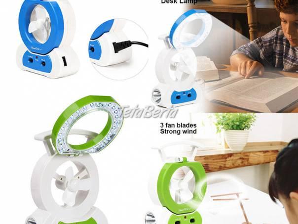 Prenosný ventilátor s LED osvetlením, foto 1 Elektro, Ostatné | Tetaberta.sk - bazár, inzercia zadarmo