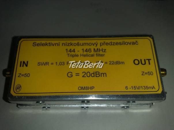 Selektivný nízkošumový predzesilovač 145MHz, foto 1 Elektro, Meracie prístroje | Tetaberta.sk - bazár, inzercia zadarmo