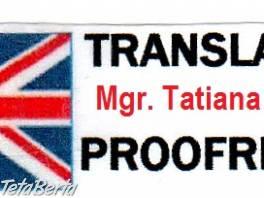 Profesionálne preklady + korektúry: anglický jazyk , Obchod a služby, Preklady, tlmočenie a korektúry  | Tetaberta.sk - bazár, inzercia zadarmo