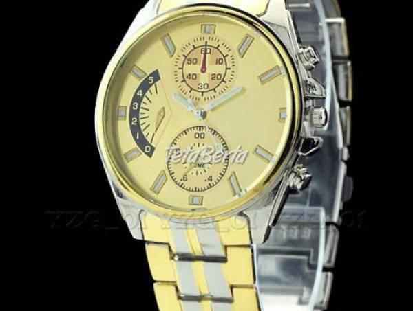 Pánske hodinky strieborno-zlaté, foto 1 Móda, krása a zdravie, Hodinky a šperky | Tetaberta.sk - bazár, inzercia zadarmo