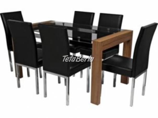 7c44758cf61e Predám sklenený jedálenský stôl čiernej farby.