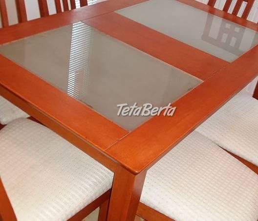 Jedálenský komplet 1+6, stôl a 6ks stoličiek., foto 1 Dom a záhrada, Vybavenie kuchyne | Tetaberta.sk - bazár, inzercia zadarmo