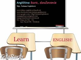 Anglický jazyk - výučba + firemná angličtina - CA, ZA , Obchod a služby, Kurzy a školenia  | Tetaberta.sk - bazár, inzercia zadarmo