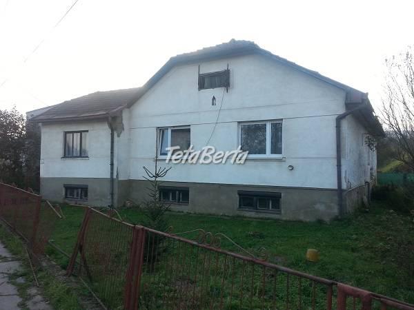 Ponúkame na predaj rodinný DOM v obci Radatice, foto 1 Reality, Domy | Tetaberta.sk - bazár, inzercia zadarmo