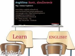 Anglický jazyk - výučba, doučovanie , Obchod a služby, Kurzy a školenia  | Tetaberta.sk - bazár, inzercia zadarmo