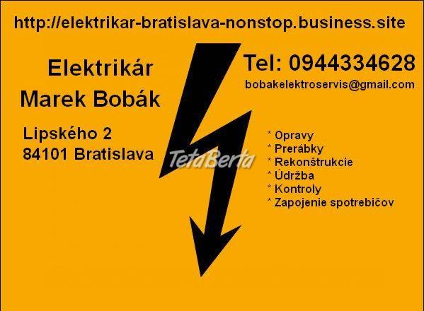 Elektrikár Bratislava  - poruchová služba, foto 1 Elektro, Sporáky, rúry na pečenie a mikrovlnky | Tetaberta.sk - bazár, inzercia zadarmo
