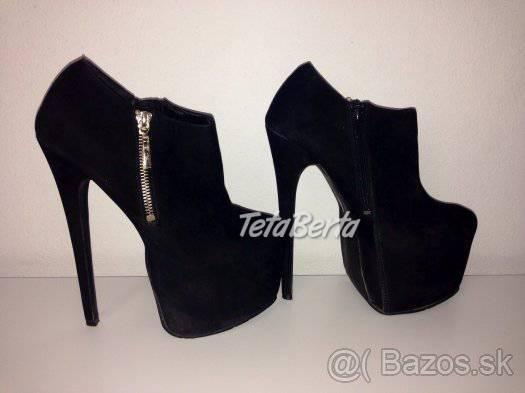 f71a72c532b0 Nové dámske platformy   kotníky   topánky z brúsenej kože
