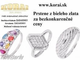 Prstene z bieleho zlata od KORAI šperky , Móda, krása a zdravie, Hodinky a šperky  | Tetaberta.sk - bazár, inzercia zadarmo