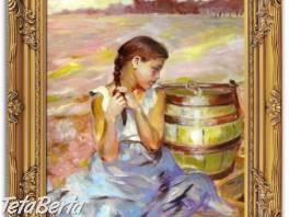 Olejomalba na plátně - bohatě zdobený rám 630x530mm , Hobby, voľný čas, Umenie a zbierky  | Tetaberta.sk - bazár, inzercia zadarmo