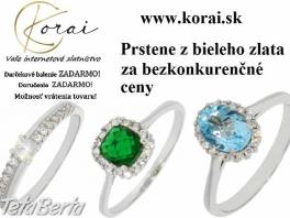 Prstene z bieleho zlata KORAI , Móda, krása a zdravie, Hodinky a šperky    Tetaberta.sk - bazár, inzercia zadarmo