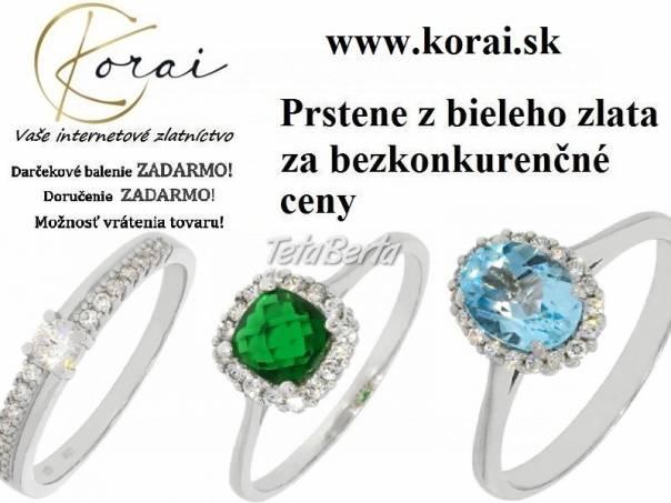 Prstene z bieleho zlata KORAI, foto 1 Móda, krása a zdravie, Hodinky a šperky   Tetaberta.sk - bazár, inzercia zadarmo