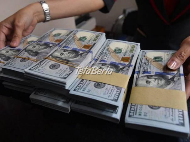 Ponúkam pôžičky ľuďom v núdzi, foto 1 Obchod a služby, Financie | Tetaberta.sk - bazár, inzercia zadarmo
