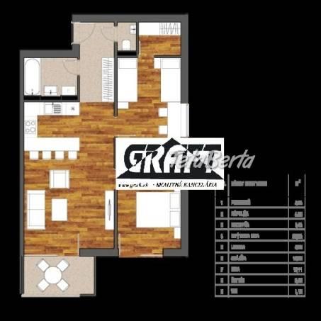 GRAFT ponúka 3-izb. byt Bystrická ul. Devínska / NOVOSTAVBA /, foto 1 Reality, Byty   Tetaberta.sk - bazár, inzercia zadarmo
