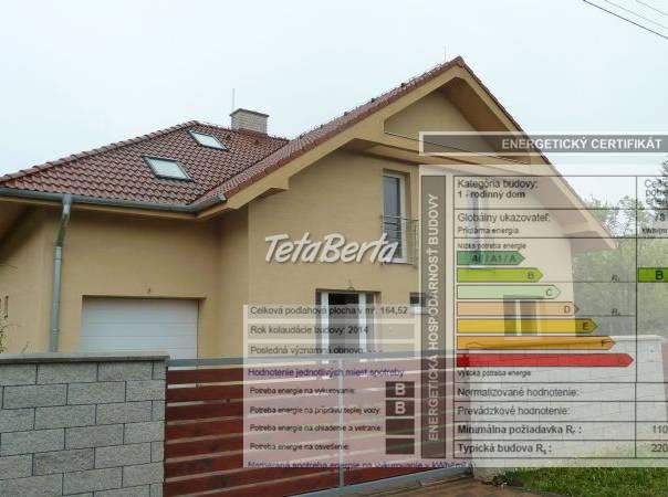Energetický certifikát ku KOLAUDÁCIÍ stavby, foto 1 Reality, Domy   Tetaberta.sk - bazár, inzercia zadarmo