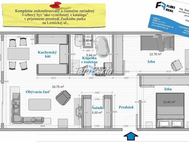 3-izbový byt, na Lesnícka ul, s rozlohou 70 m2, a 6-m Lodžiou, na 7. poschodí, po rekonštrukcii, foto 1 Reality, Byty   Tetaberta.sk - bazár, inzercia zadarmo