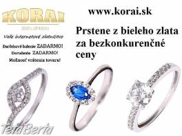 Z bieleho zlata prstene KORAI , Móda, krása a zdravie, Hodinky a šperky  | Tetaberta.sk - bazár, inzercia zadarmo
