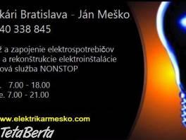 Elektrikár Bratislava - 24hodín denne. , Hobby, voľný čas, Ostatné  | Tetaberta.sk - bazár, inzercia zadarmo