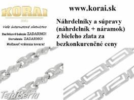 Náhrdelníky a súpravy z bieleho zlata KORAI , Móda, krása a zdravie, Hodinky a šperky  | Tetaberta.sk - bazár, inzercia zadarmo