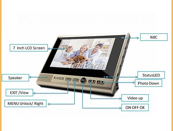 Bezdrôtový dverový videotelefón KIVOS KDB 700, foto 1 Elektro, Video, dvd a domáce kino | Tetaberta.sk - bazár, inzercia zadarmo