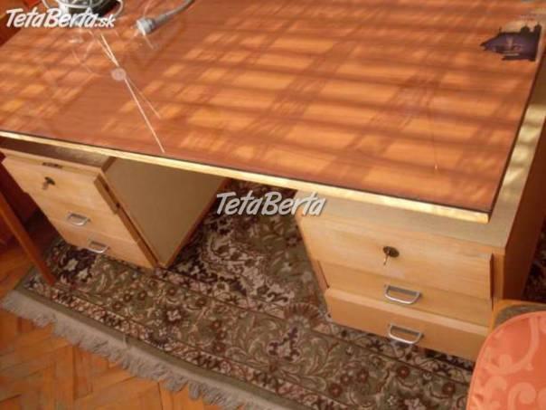 64a98448b0fea Lacno predám veľký písací drevený stôl, foto 1 Dom a záhrada, Stoly, pulty