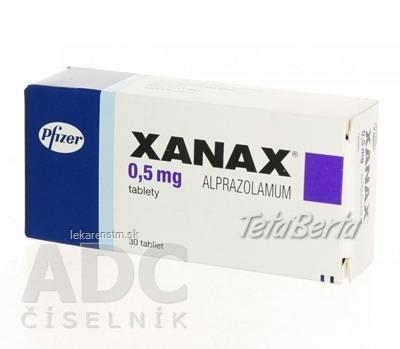 XANAX 0,5mg, foto 1 Móda, krása a zdravie, Starostlivosť o zdravie   Tetaberta.sk - bazár, inzercia zadarmo