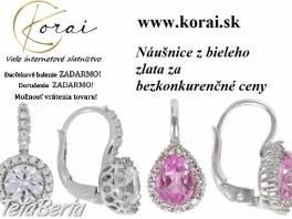 Náušnice z bieleho zlata od KORAI , Móda, krása a zdravie, Hodinky a šperky    Tetaberta.sk - bazár, inzercia zadarmo
