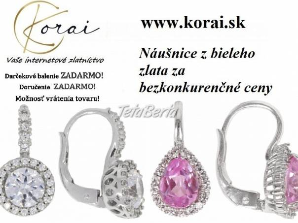 Náušnice z bieleho zlata od KORAI, foto 1 Móda, krása a zdravie, Hodinky a šperky | Tetaberta.sk - bazár, inzercia zadarmo