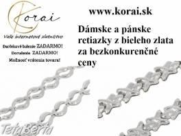 Retiazky z bieleho zlata KORAI , Móda, krása a zdravie, Hodinky a šperky    Tetaberta.sk - bazár, inzercia zadarmo
