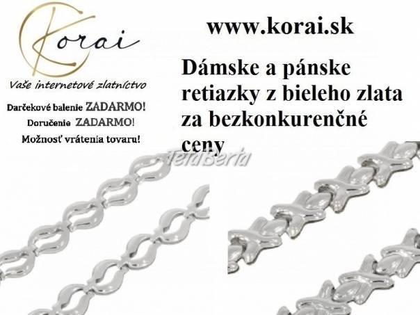 Retiazky z bieleho zlata KORAI, foto 1 Móda, krása a zdravie, Hodinky a šperky   Tetaberta.sk - bazár, inzercia zadarmo