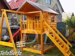 Zrubový detský domček , Dom a záhrada, Záhradný nábytok, dekorácie  | Tetaberta.sk - bazár, inzercia zadarmo